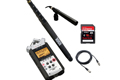 Audio KIT Zoom H4n + Rode NT-G1mic + Pole Boom + Cables + Card S